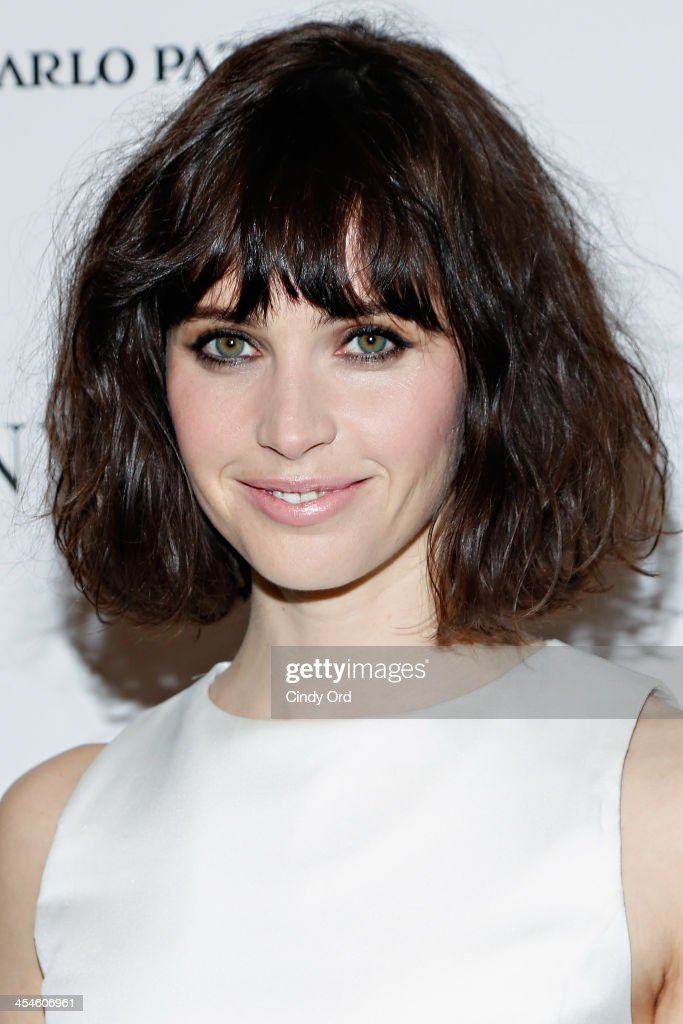 Actress <a gi-track='captionPersonalityLinkClicked' href=/galleries/search?phrase=Felicity+Jones&family=editorial&specificpeople=5128418 ng-click='$event.stopPropagation()'>Felicity Jones</a> attends 'The Invisible Woman' New York Premiere at Museum of Modern Art on December 9, 2013 in New York City.