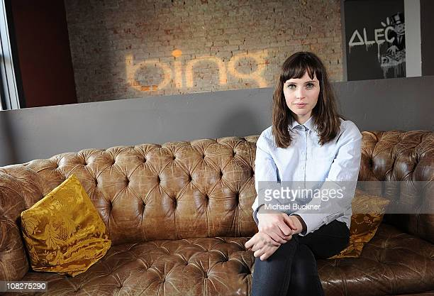 Actress Felicity Jones attends the 'Like Crazy' Press Junket at Bing Bar on January 23 2011 in Park City Utah