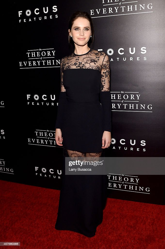 Actress Felicity Jones attends 'The Theory Of Everything' New York Premiere at Museum of Modern Art on October 20, 2014 in New York City.