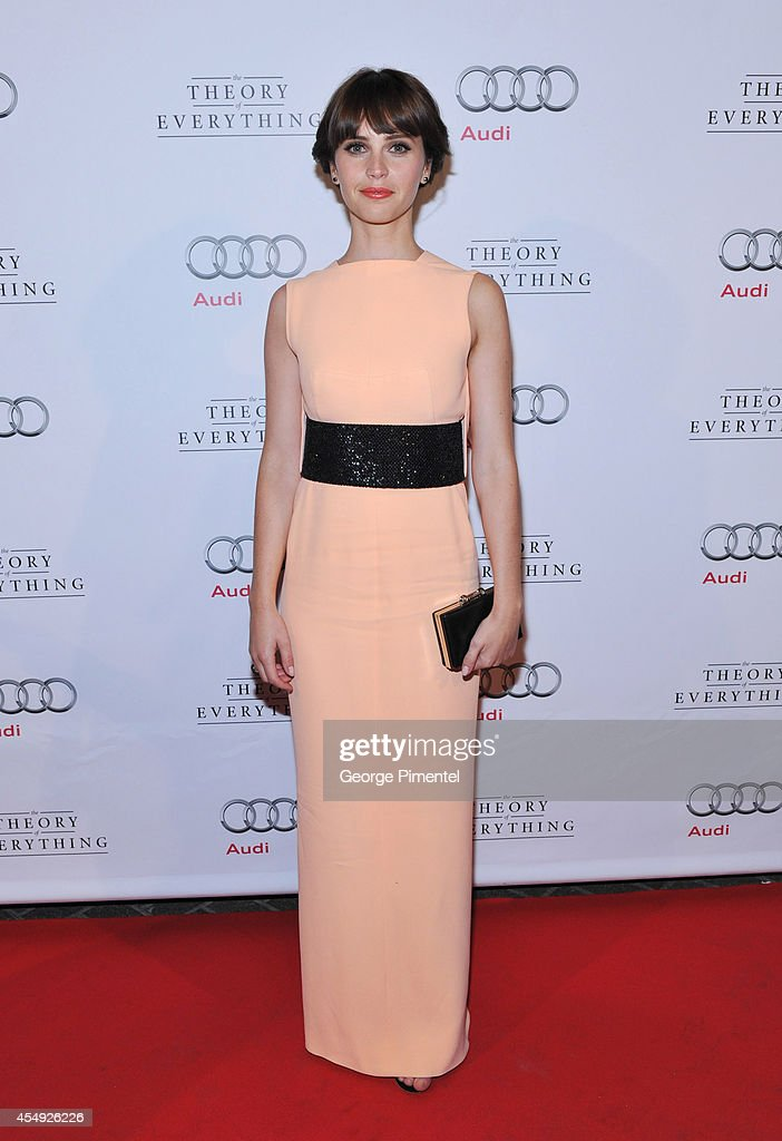 Actress Felicity Jones attends 'The Theory Of Everything' postscreening event presented by Audi Canada during the 2014 Toronto International Film...