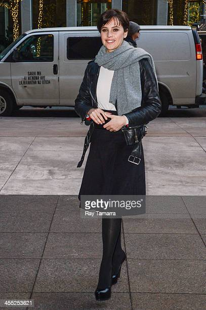 Actress Felicity Jones enters the Sirius XM Studios on December 11 2013 in New York City