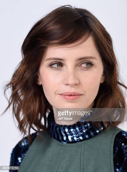 Actress Felicity Jones poses for a portrait during the 87th Academy Awards Nominee Luncheon at The Beverly Hilton Hotel on February 2 2015 in Los...