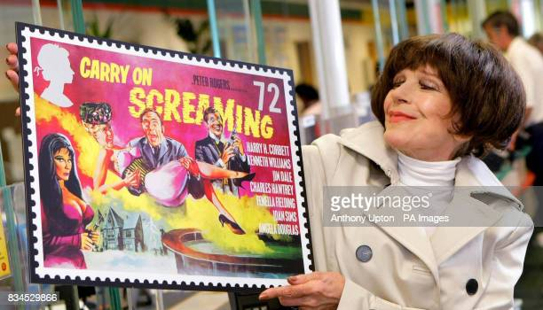 Actress Fenella Fielding who played Valeria in Carry On Screaming launches the Royal Mail's new stamp series celebrating the 50th anniversary of the...