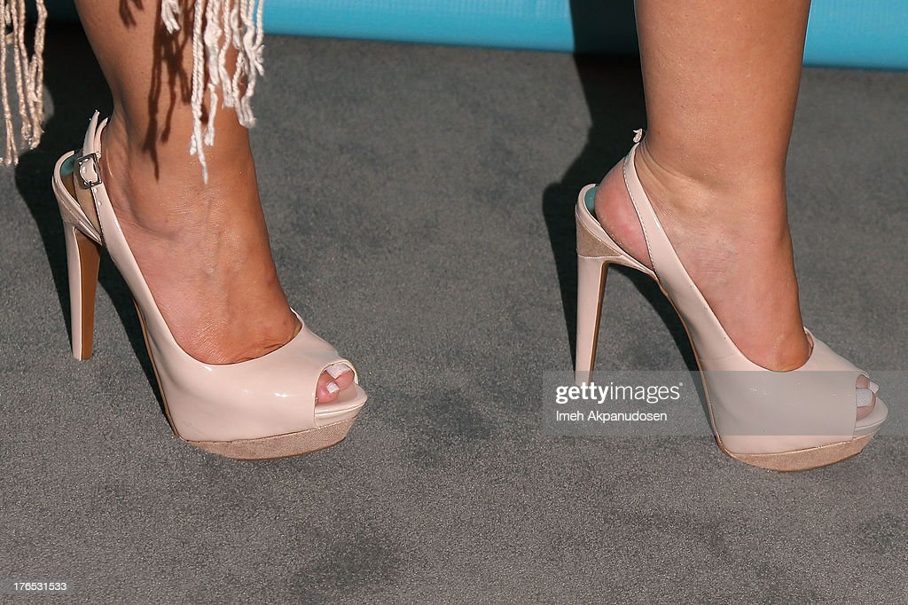 Actress Fernanda Espindola (shoe detail) attends the premiere of CW Seed's 'Husbands' at The Paley Center for Media on August 14, 2013 in Beverly Hills, California.