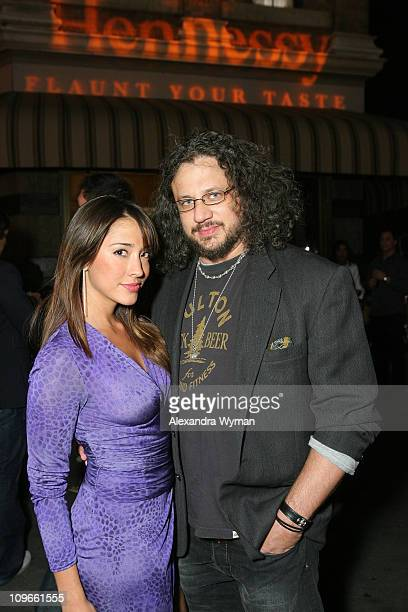 Actress Fernanda Romero and producer Joseph Reitman at the Hennessy Lounge during Maxim's 2008 Hot 100 Party at Paramount Studios on May 21 2008 in...