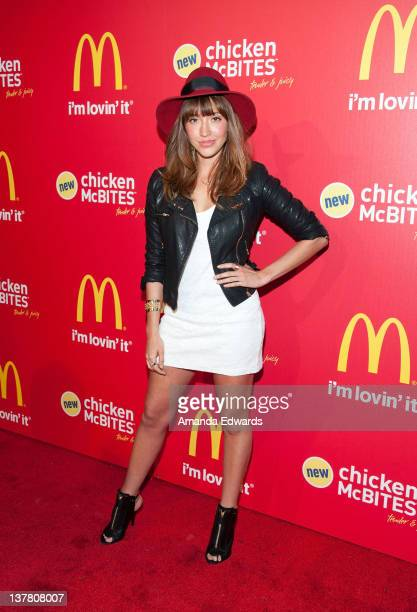Actress Fernanda Romero arrives at the celebrity launch party of McDonald's new Chicken McBites at Siren Studios on January 26 2012 in Hollywood...