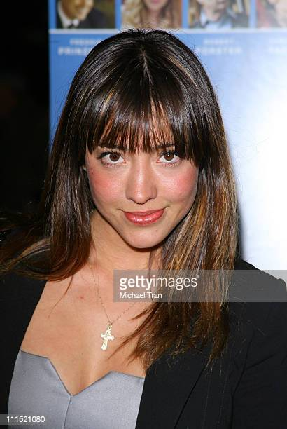 Actress Fernanda Romero arrives at the 'Jack and Jill vs the World' Premiere held at The Fine Arts Theater on April 3 2008 in Beverly Hills California