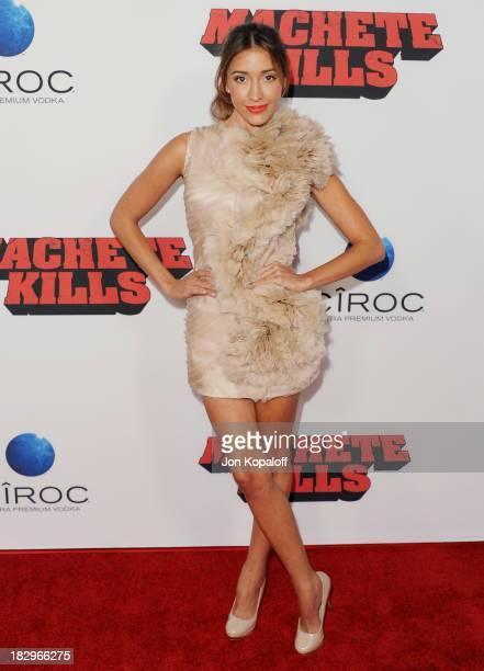 Actress Fernanda Romero arrives at the Los Angeles Premiere 'Machete Kills' at Regal Cinemas LA Live on October 2 2013 in Los Angeles California