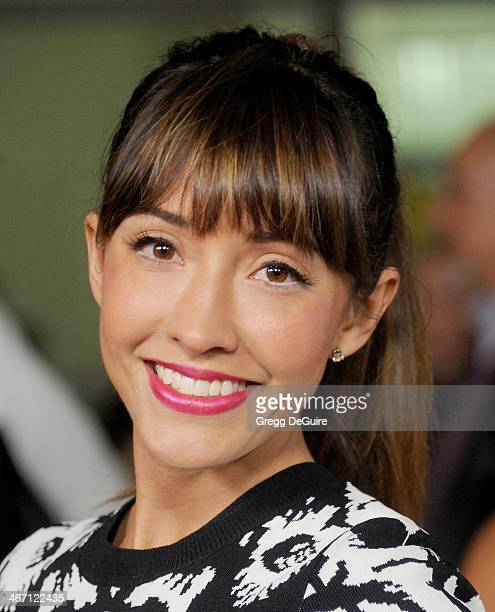 Actress Fernanda Romero arrives at the Los Angeles premiere of 'Cavemen' at ArcLight Hollywood on February 5 2014 in Hollywood California
