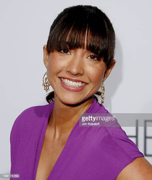 Actress Fernanda Romero arrives at the Los Angeles Premiere 'The Eye' at the Pacific Cinerama Dome on January 31 2008 in Hollywood California