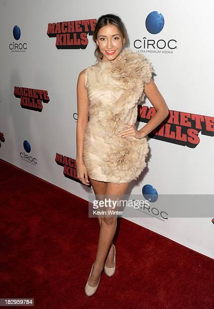 Actress Fernanda Romero arrives at the premiere of Open Road Films' 'Machete Kills' at Regal Cinemas LA Live on October 2 2013 in Los Angeles...