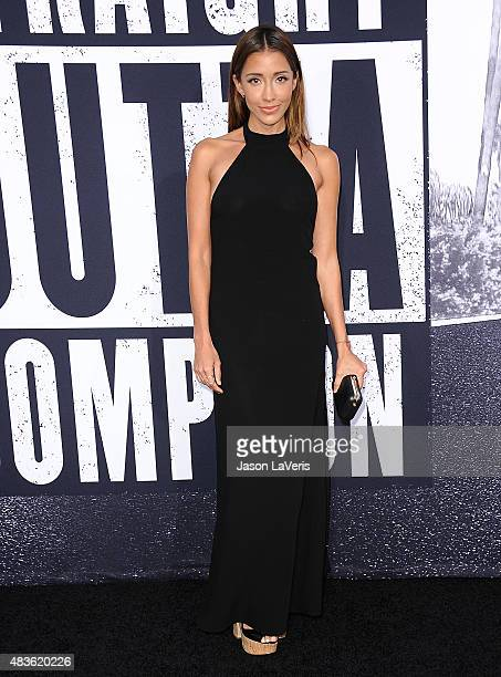Actress Fernanda Romero attends the premiere of 'Straight Outta Compton' at Microsoft Theater on August 10 2015 in Los Angeles California