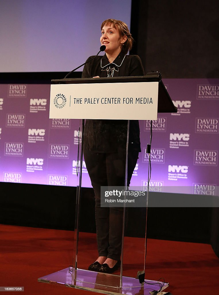Actress/ filmmaker <a gi-track='captionPersonalityLinkClicked' href=/galleries/search?phrase=Lena+Dunham&family=editorial&specificpeople=5836535 ng-click='$event.stopPropagation()'>Lena Dunham</a> attends Women in the Workplace: Reducing Stress With Meditation at Paley Center For Media on October 8, 2013 in New York City.