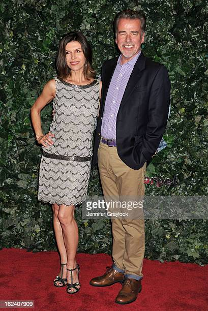 Actress Finola Hughes and Actor Ian Buchanan attend the QVC Red Carpet Style Party held at Four Seasons Hotel Los Angeles at Beverly Hills on...