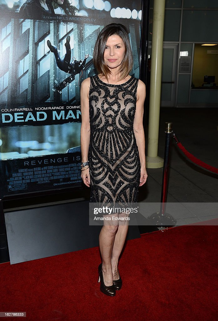 Actress Finola Hughes arrives at the Los Angeles Premiere of 'Dead Man Down' at ArcLight Hollywood on February 26, 2013 in Hollywood, California.