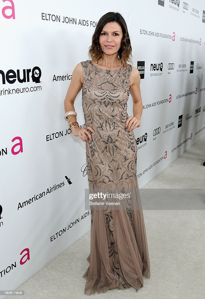 Actress Finola Hughes attends Chopard at 21st Annual Elton John AIDS Foundation Academy Awards Viewing Party at West Hollywood Park on February 24, 2013 in West Hollywood, California.