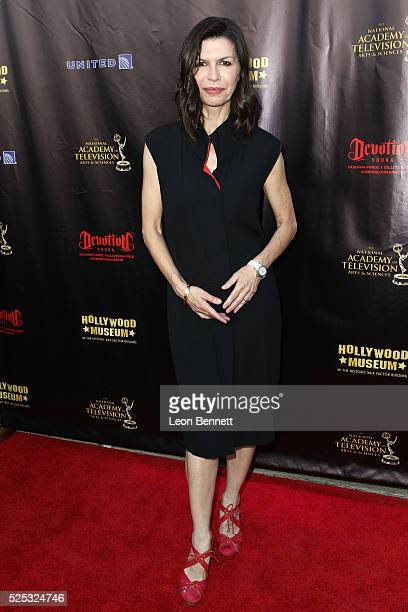 Actress Finola Hughes attends the 2016 Daytime Emmy Awards Nominees Reception Arrivals at The Hollywood Museum on April 27 2016 in Hollywood...