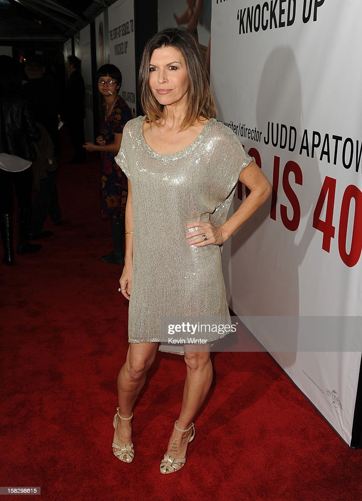 Actress Finola Hughes attends the premiere of Universal Pictures' 'This Is 40' at Grauman's Chinese Theatre on December 12, 2012 in Hollywood, California.