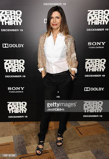Actress Finola Hughes attends the premiere of 'Zero Dark Thirty' at the Dolby Theatre on December 10 2012 in Hollywood California