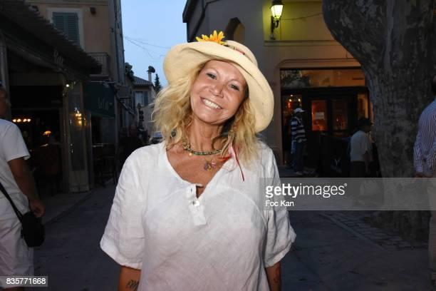 Actress Fiona Gelin attends the 'Carbone' SaintTropez Premiere Outside Arrivals At Cinema La Renaissance Place des LIces on August 19 2017 in...