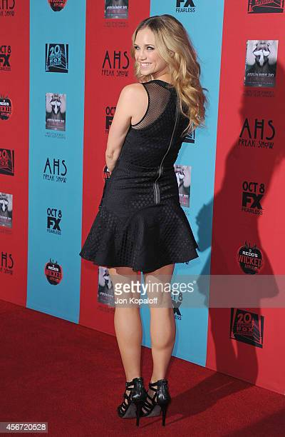 Actress Fiona Gubelmann arrives at the Los Angeles Premiere 'American Horror Story Freak Show' at TCL Chinese Theatre IMAX on October 5 2014 in...