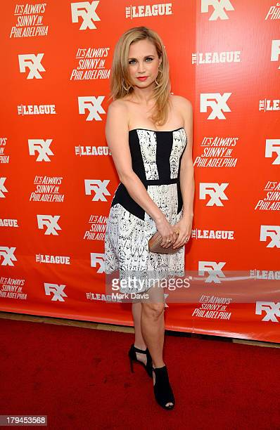 Actress Fiona Gubelmann attends the premiere and launch party for FXX Network's 'It's Always Sunny In Philadelphia' and 'The League' at Lure on...