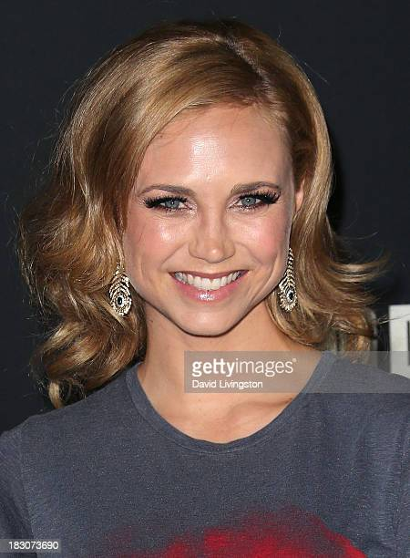 Actress Fiona Gubelmann attends the premiere of AMC's 'The Walking Dead' 4th Season at Universal CityWalk on October 3 2013 in Universal City...