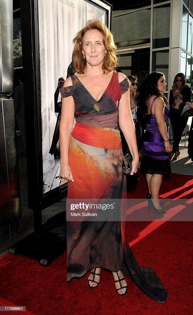 Actress Fiona Shaw arrives on the red carpet for HBO's 'True Blood' season 4 premiere at The Dome at Arclight Hollywood on June 21, 2011 in Hollywood, California.