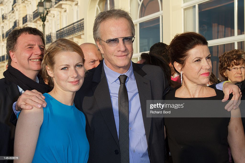 Actress Fleur Lise Heuet, actor Christophe Lambert and director Anne Fassio attend the 26th Cabourg Romantic Film Festival on June 15, 2012 in Cabourg, France.