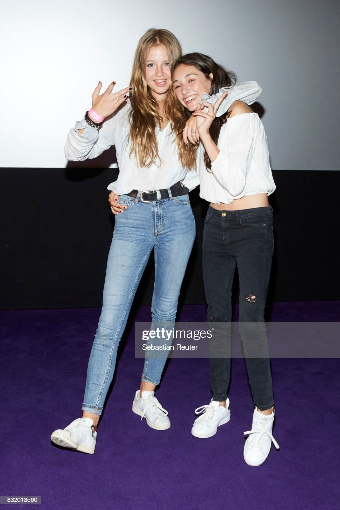 Actress Flora Li Thiemann and actress Emily Kusche attend the 'Tigermilch' premiere at Kino in der Kulturbrauerei on August 15, 2017 in Berlin, Germany.