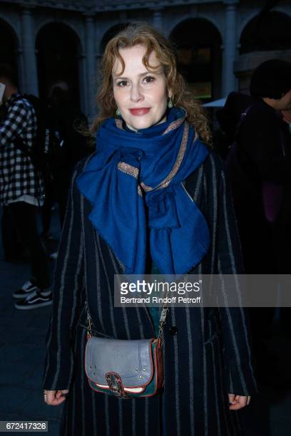 Actress Florence Darel attends 'La Recompense' Theater Play at Theatre Edouard VII on April 24 2017 in Paris France