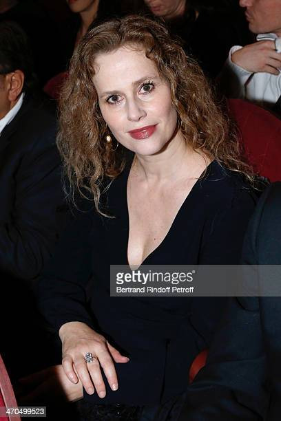 Actress Florence Darel attends the 'L'appel de Londres' theatrical premiere at Theatre Du Gymnase on February 19 2014 in Paris France