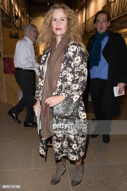 Actress Florence Darel attends 'Tombeau pour Cinq Cent Mille Soldats' the Reading for 50th anniversary of the book at Azzedine Alaia Gallery on...