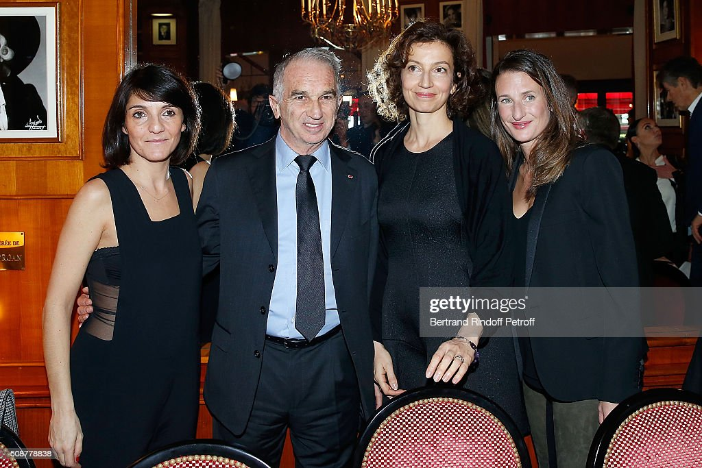 Actress <a gi-track='captionPersonalityLinkClicked' href=/galleries/search?phrase=Florence+Foresti&family=editorial&specificpeople=4946831 ng-click='$event.stopPropagation()'>Florence Foresti</a>, President of Academy of Cesar <a gi-track='captionPersonalityLinkClicked' href=/galleries/search?phrase=Alain+Terzian&family=editorial&specificpeople=2455092 ng-click='$event.stopPropagation()'>Alain Terzian</a>, Cultural Advisor with Francois Hollande Audrey Azoulay and Actress Camille Cottin attends 'Cesar 2016 Nominee Luncheon' at Le Fouquet's on February 6, 2016 in Paris, France.