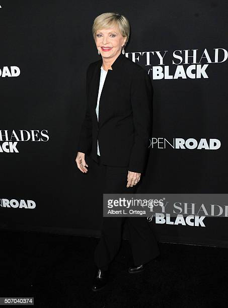 Actress Florence Henderson arrives for the premiere of Open Roads Films' 'Fifty Shades Of Black' held at Regal Cinemas LA Live on January 26 2016 in...