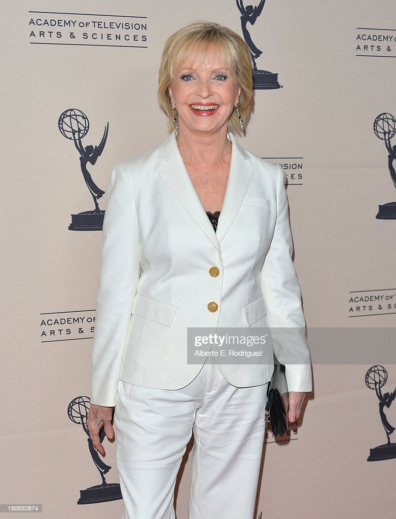 Actress Florence Henderson arrives to the Academy of Television Arts & Sciences' Performers Peer Group Cocktail Reception at the Sheraton Hotel on August 20, 2012 in Universal City, California.