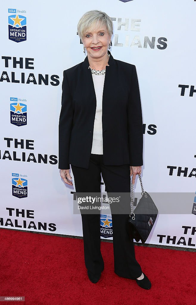 Actress <a gi-track='captionPersonalityLinkClicked' href=/galleries/search?phrase=Florence+Henderson&family=editorial&specificpeople=171392 ng-click='$event.stopPropagation()'>Florence Henderson</a> attends the 56th Annual Thalians Gala at the House of Blues Sunset Strip on April 26, 2014 in West Hollywood, California.