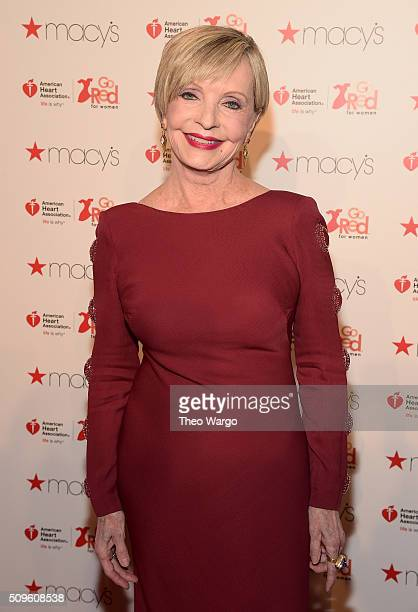 Actress Florence Henderson attends The American Heart Association's Go Red For Women Red Dress Collection 2016 Presented By Macy's at The Arc...