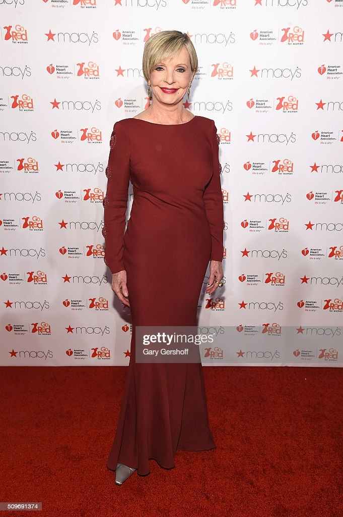 Actress Florence Henderson attends The American Heart Association's Go Red for Women Dress Collection 2016 at Skylight at Moynihan Station on February 11, 2016 in New York City.