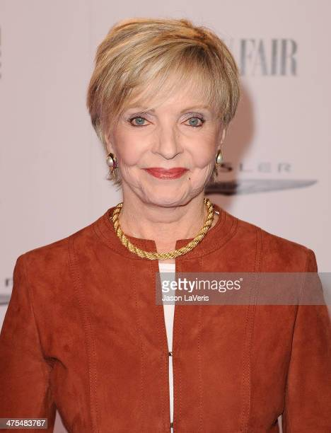 Actress Florence Henderson attends the Vanity Fair Campaign Hollywood 'American Hustle' toast at Ago Restaurant on February 27 2014 in West Hollywood...