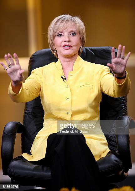 Actress Florence Henderson of 'Ladies of the House' speaks for the Hallmark Channel during the 2008 Summer Television Critics Association Press Tour...