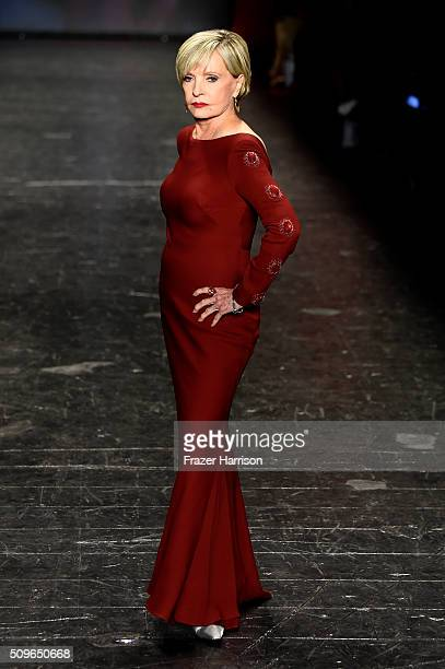 Actress Florence Henderson walks the runway at The American Heart Association's Go Red For Women Red Dress Collection 2016 Presented By Macy's at The...