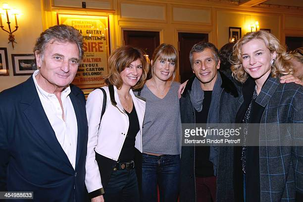 Actress Florence Pernel with husband Patrick Rotman TV presenter Nagui with his wife actress Melanie Page and actress Pascale Arbillot attend the...