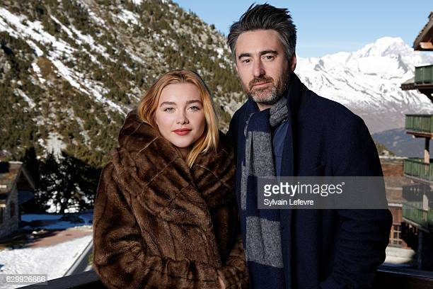 Actress Florence Pugh and film director William Oldroyd attend Les Arcs European Film Festival on December 15 2016 in Les Arcs France