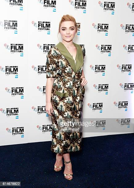 Actress Florence Pugh attends the 'Lady Macbeth' photocall during the 60th BFI London Film Festival at Haymarket Cinema on October 14 2016 in London...