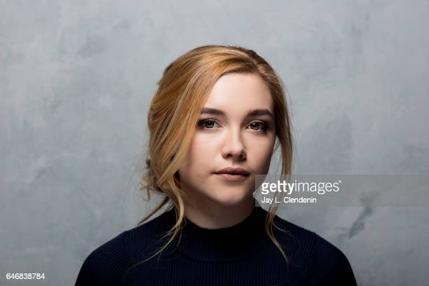 Actress Florence Pugh from the film 'Lady MacBeth' is photographed at the 2017 Sundance Film Festival for Los Angeles Times on January 20 2017 in...