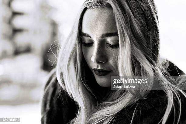 Actress Florence Pugh is photographed for Self Assignment on December 15 2016 in Les Arcs France