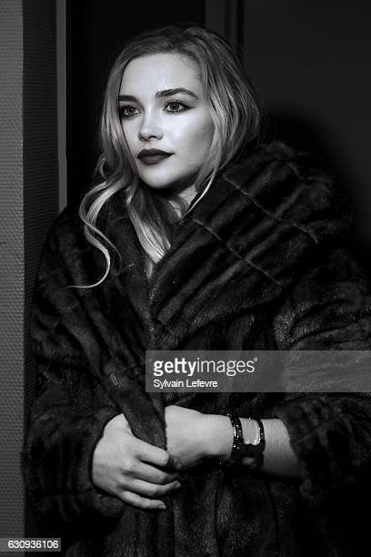 Actress Florence Pugh is photographed for Self Assignment on December 13 2016 in Les Arcs France