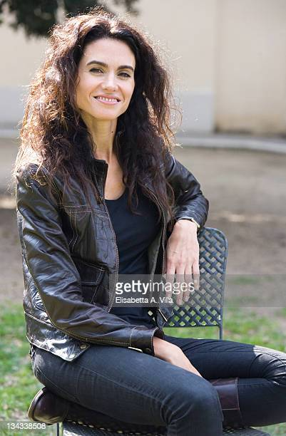 Actress Florencia Raggi from Argentina attends 'Complici Del Silenzio' photocall at Villa Borghese on April 7 2009 in Rome Italy
