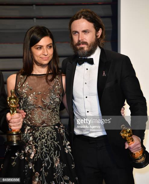 Actress Floriana Lima and actor Casey Affleck arrive at the Vanity Fair Oscar Party in Beverly Hills California Los Angeles on February 26 2017